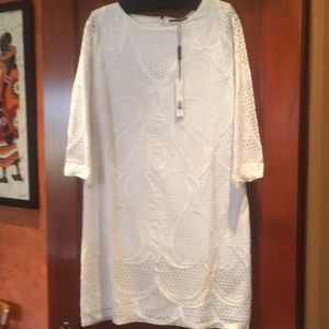 White Tahari dress